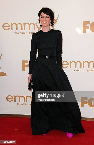 Actress Lena Headey arrives at the 63rd Annual Primetime Emmy Awards held at Nokia Theatre LA LIVE on September 18 2011 in Los Angeles California
