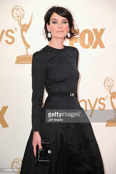 Actress Lena Headey arrives at the 63rd Primetime Emmy Awards at Nokia Theatre LA Live on September 18 2011 in Los Angeles California