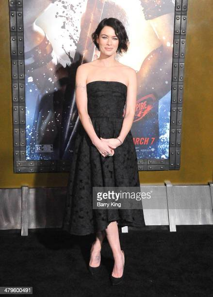 Actress Lena Headey arrives at the Los Angeles Premiere '300 Rise Of An Empire' on March 4 2014 at TCL Chinese Theatre in Hollywood California