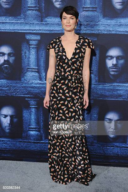 Actress Lena Headey arrives at the Premiere Of HBO's Game Of Thrones Season 6 at TCL Chinese Theatre on April 10 2016 in Hollywood California