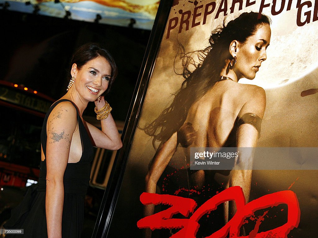 Actress Lena Headey arrives at the premiere of Warner Bros. Picture's '300' at the Chinese Theater on March 5, 2007 in Los Angeles, California.