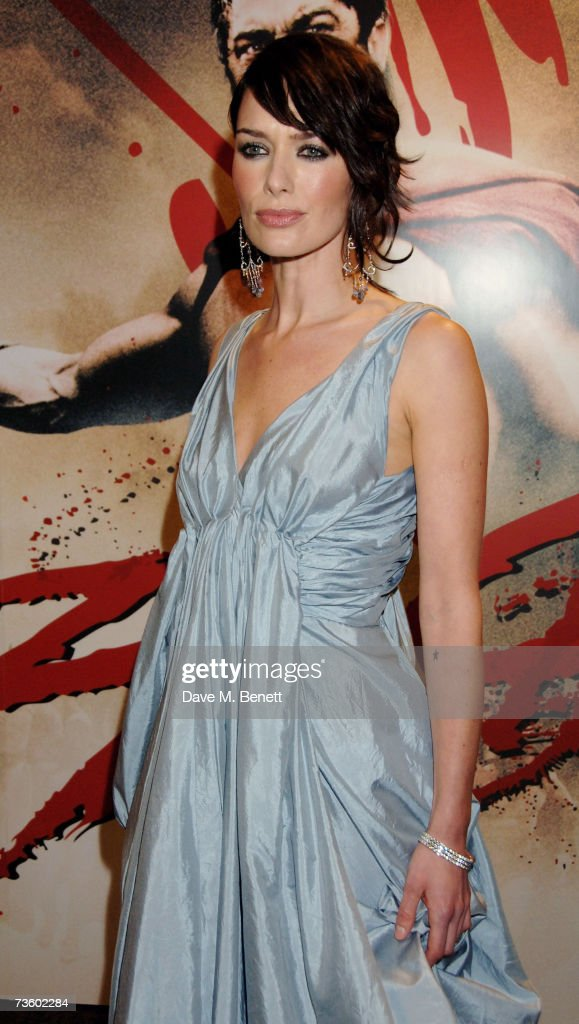 Actress Lena Headey arrives at the UK Premiere of '300', at Vue West End on March 15, 2007 in London, England.
