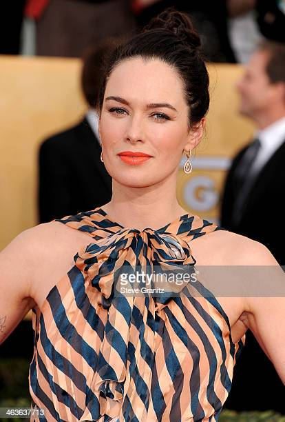 Actress Lena Headey attends the 20th Annual Screen Actors Guild Awards at The Shrine Auditorium on January 18 2014 in Los Angeles California