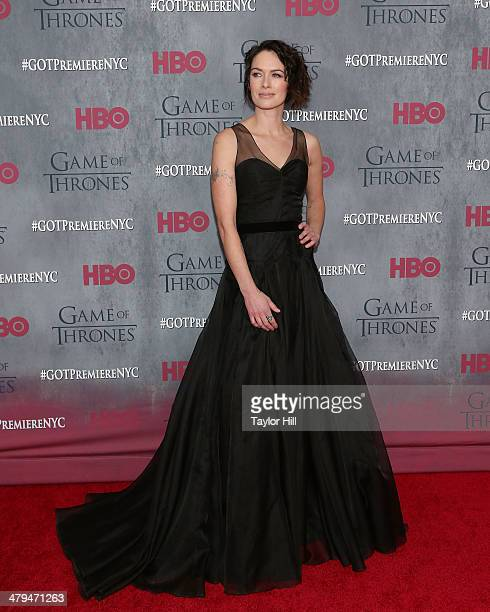 Actress Lena Headey attends the Game Of Thrones Season 4 premiere at Avery Fisher Hall Lincoln Center on March 18 2014 in New York City