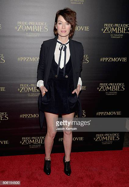 Actress Lena Headey attends the premiere of Screen Gems' 'Pride and Prejudice and Zombies' on January 21 2016 in Los Angeles California