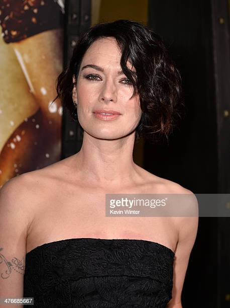 "Actress Lena Headey attends the premiere of Warner Bros. Pictures and Legendary Pictures' ""300: Rise Of An Empire"" at TCL Chinese Theatre on March 4,..."