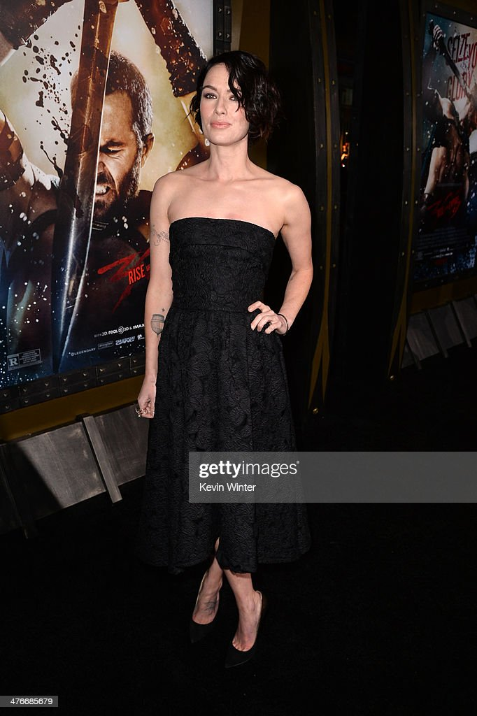 Actress Lena Headey attends the premiere of Warner Bros. Pictures and Legendary Pictures' '300: Rise Of An Empire' at TCL Chinese Theatre on March 4, 2014 in Hollywood, California.