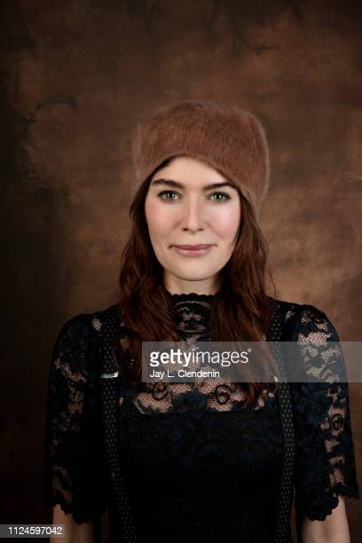 Actress Lena Headey from 'Fighting with My Family' is photographed for Los Angeles Times on January 27 2019 at the 2019 Sundance Film Festival in...