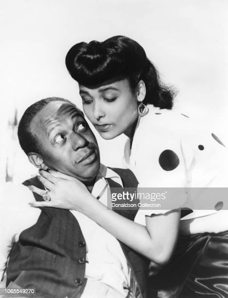 Actress Lena Horne Eddie Anderson in a scene from the movie Cabin in the Sky