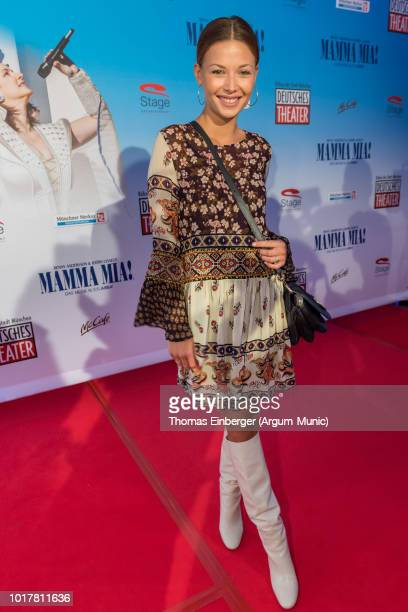Actress Lena Meckel at the 'MAMMA MIA' musical premiere at Deutsches Theatre on August 16 2018 in Munich Germany Photo by Thomas Einberger /Getty...