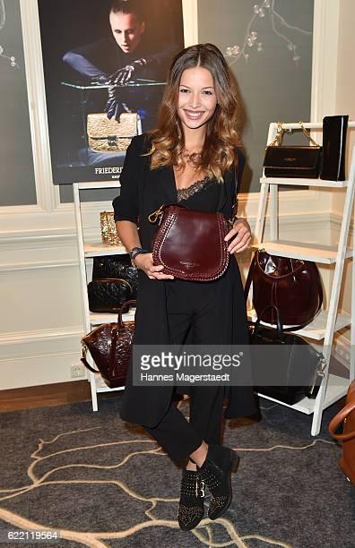 Actress Lena Meckel during the presantation of Friederike Quast New Fall/Winter 2016/17 handbag collection at Hotel Mandarin Oriental on November 9...