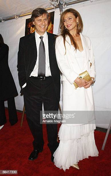 Actress Lena Olin and husband/director Lasse Hallstrom arrive at the Loews Lincoln Square for the premiere of the new film 'Casanova' December 11...