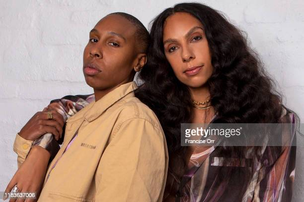 Actress Lena Waithe and director Melina Matsoukas are photographed for Los Angeles Times on October 11 2019 in Los Angeles California PUBLISHED IMAGE...