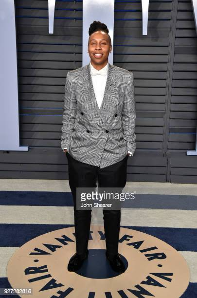 Actress Lena Waithe attends the 2018 Vanity Fair Oscar Party hosted by Radhika Jones at Wallis Annenberg Center for the Performing Arts on March 4...