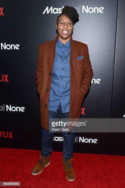"Actress Lena Waithe attends the ""Master Of None"" New York premiere at AMC Loews 19th Street East 6 Theater on November 5, 2015 in New York City."