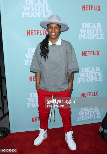 Actress Lena Waithe attends the screening of Netflix's Dear White People season 2 at ArcLight Cinemas on May 2 2018 in Hollywood California