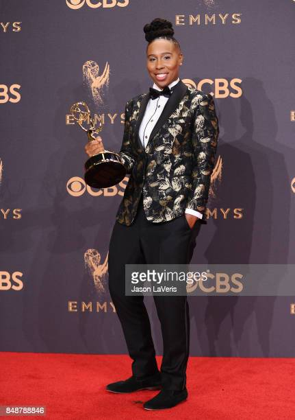 Actress Lena Waithe poses in the press room at the 69th annual Primetime Emmy Awards at Microsoft Theater on September 17 2017 in Los Angeles...