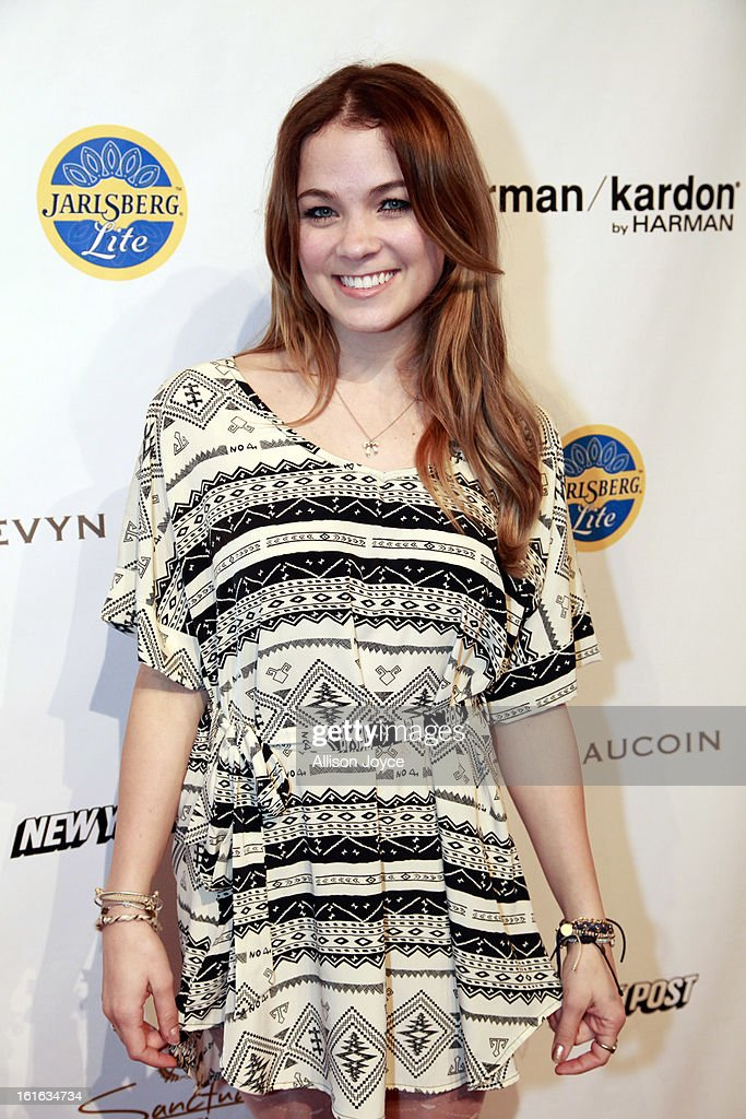 Actress Lenay Dunn attends the Boy Meets Girl by Stacy Igel fall 2013 fashion show during Conair Style360 at Metropolitan Pavilion on February 13, 2013 in New York City.