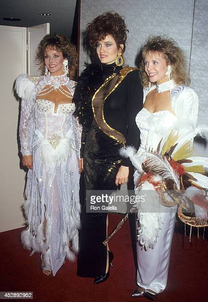 Actress Lenore Kasdorf actress Barbara Stock and actress Shelley Taylor Morgan attend A Carousel of Caring Fourth Annual Celebrity Fashion Show to...