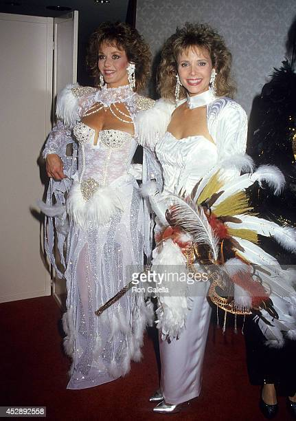 Actress Lenore Kasdorf and actress Shelley Taylor Morgan attend A Carousel of Caring Fourth Annual Celebrity Fashion Show to Benefit the Cystic...