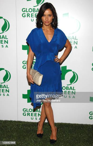 Actress Leonor Varela arrives at Global Green USA 5th pre-Oscar Party held at Avalon on February 20, 2008 in Hollywood, California.