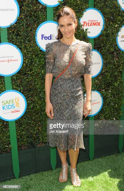 Actress Leonor Varela arrives at Safe Kids Day at The Lot on April 5 2014 in West Hollywood California