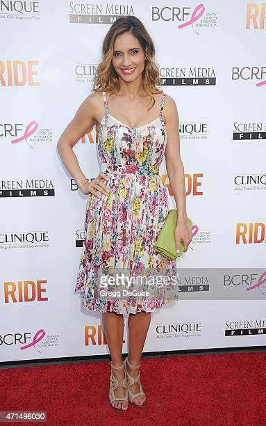Actress Leonor Varela arrives at the Los Angeles premiere of 'Ride' at ArcLight Hollywood on April 28 2015 in Hollywood California