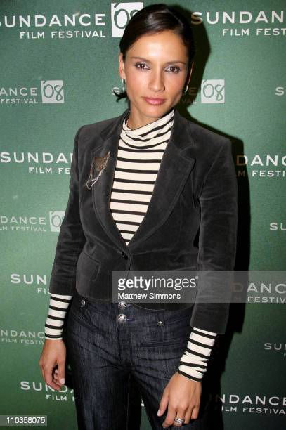Actress Leonor Varela attends a screening of 'Sleep Dealer' during 2008 Sundance Film Festival at Racquet Club Theatre on January 19 2008 in Park...
