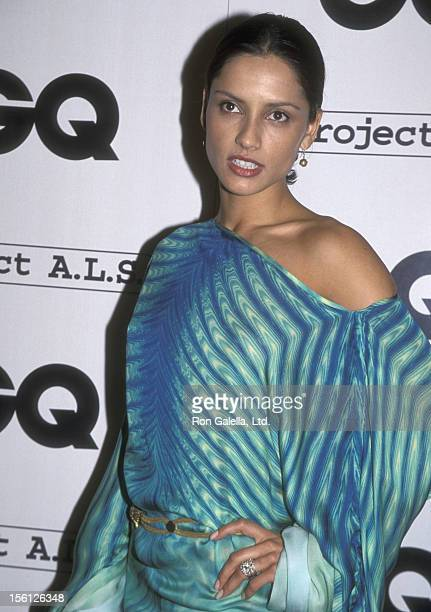 Actress Leonor Varela attends the GQ Magazine Celebrates Second Annual 'Hollywood Issue' with StarStudded LA Bash on February 15 2001 at The Factory...