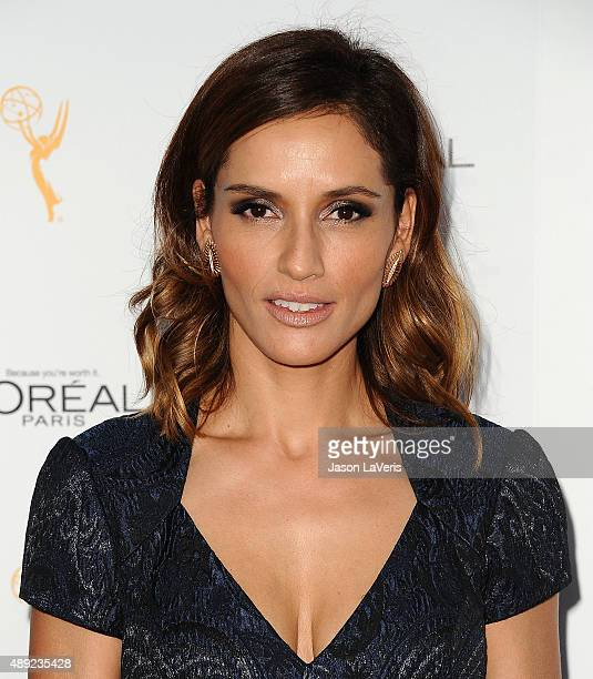 Actress Leonor Varela attends the Television Academy's celebration for the 67th Emmy Award nominees for outstanding performances at Pacific Design...