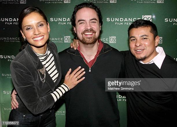 Actress Leonor Varela Director/ Writer Alex Rivera and Actor Jacob Vargas attend a screening of 'Sleep Dealer' during 2008 Sundance Film Festival at...