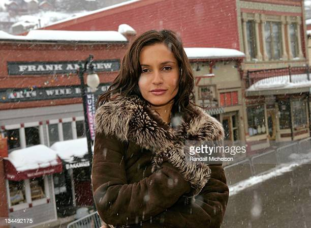 Actress Leonor Varela of 'Hell Ride' poses at the Sky 360 Delta Loungel on January 24 2008 in Park City Utah