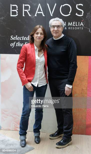Actress Leonor Watling and photographer Manuel Outumuro attend the 'BRAVOS book selection' photocall at Palacio de los Duques hotel on March 20 2018...