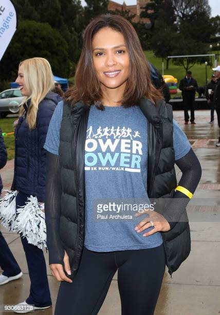 Actress Lesley Ann Brandt attends the Power Of Tower run/walk at UCLA on March 11 2018 in Los Angeles California