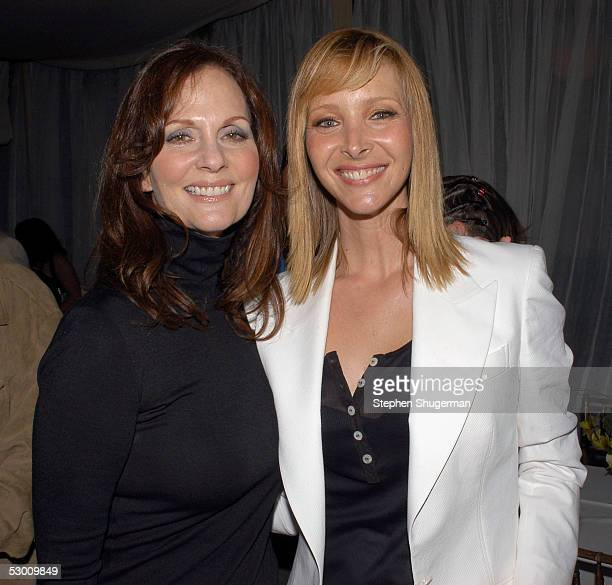 Actress Lesley Ann Warren and actress Lisa Kudrow attend the Premiere of HBO's series The Comeback at the Paramount Theater on June 1 2005 in...