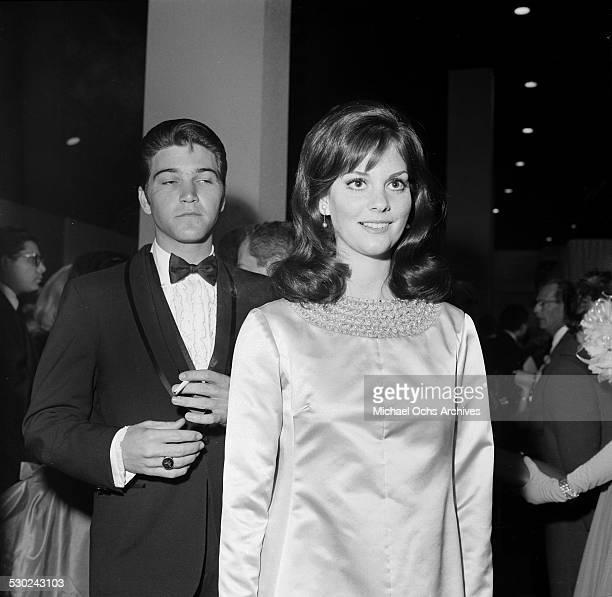 Actress Lesley Ann Warren attends an event with actor Paul Petersen in Los AngelesCA