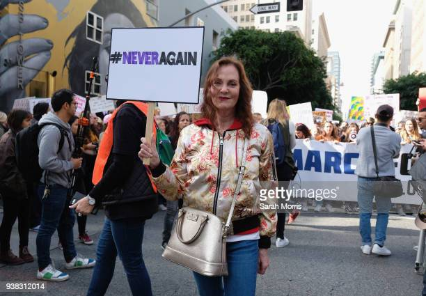 Actress Lesley Ann Warren participates in the March for Our Lives Los Angeles rally on March 24 2018 in Los Angeles California More than 800 March...