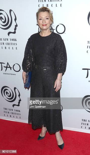 Actress Lesley Manville attends the 2017 New York Film Critics Awards at TAO Downtown on January 3 2018 in New York City