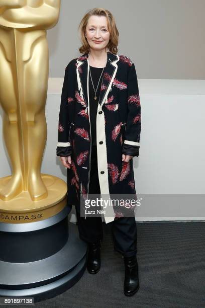Actress Lesley Manville attends The Academy of Motion Picture Arts Sciences Official Academy Screening of Phantom Thread at MOMA on December 12 2017...