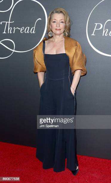 Actress Lesley Manville attends the 'Phantom Thread' New York premiere at Harold Pratt House on December 11 2017 in New York City