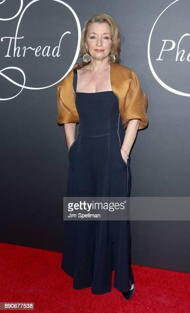 Actress Lesley Manville attends the 'Phantom Thread' New York premiere at Harold Pratt House on December 11 2017 in New York City