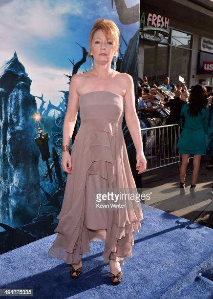Actress Lesley Manville attends the World Premiere of Disney's 'Maleficent' at the El Capitan Theatre on May 28 2014 in Hollywood California