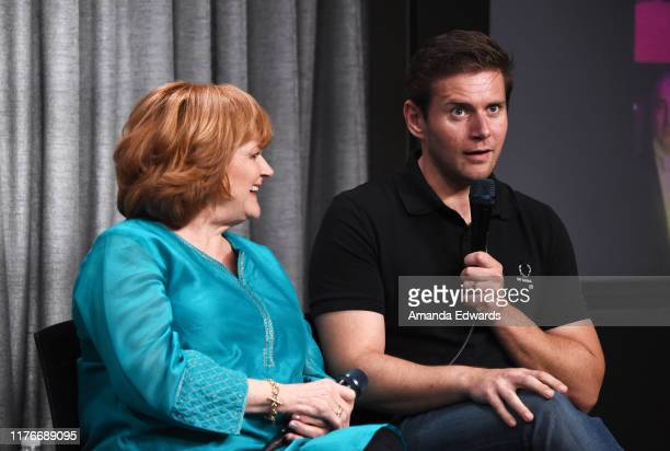 Actress Lesley Nicol and actor Allen Leech attend the SAGAFTRA Foundation Conversations with Downton Abbey at the SAGAFTRA Foundation Screening Room...
