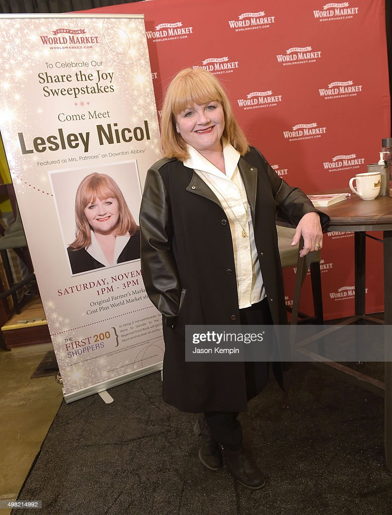 Actress Lesley Nicol of 'Downton Abbey' attends the launch of the Cost Plus World Market 'Share The Joy' promotion on November 21, 2015 in Los Angeles, California.
