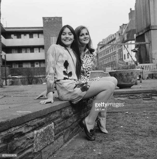 Actress LesleyAnne Down and Jeanetta Payne await their turn to audition UK 29th March 1968