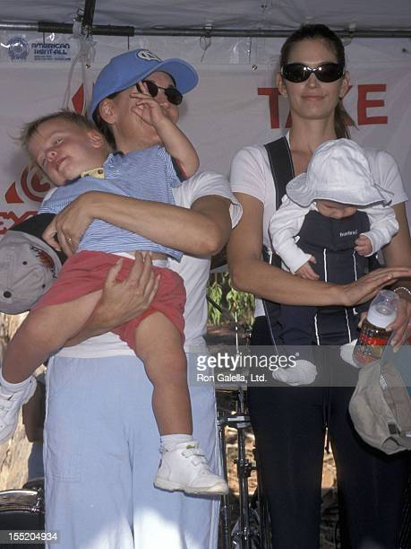 Actress Lesley-Anne Down and son George-Edward FauntLeRoy and model Cindy Crawford and son Presley Gerber attend the Fourth Annual Expedition...