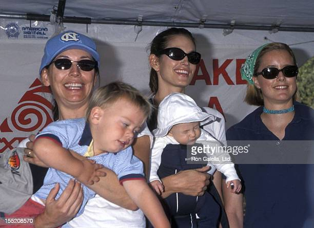 Actress LesleyAnne Down and son GeorgeEdward FauntLeRoy and model Cindy Crawford and son Presley Gerber and actress Tea Leoni attend the Fourth...