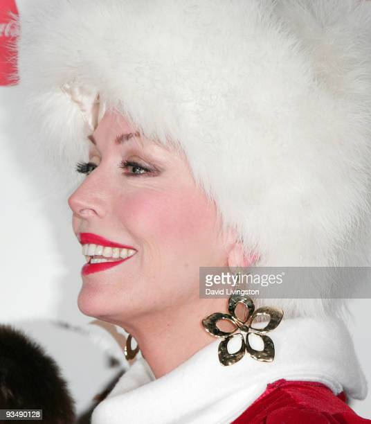 Actress LesleyAnne Down arrives for the 2009 Hollywood Christmas Parade at The Roosevelt Hotel on November 29 2009 in Hollywood California