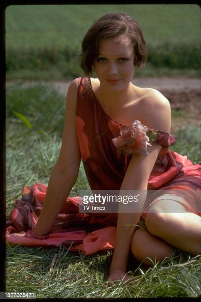 Actress Lesley-Anne Down in character as Georgina in period drama Upstairs, Downstairs, circa 1975.