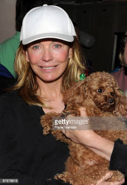 """Actress Lesley-Anne Down poses at CBS' """"Bold And The Beautiful"""" 23rd Anniversary Celebration at Television City, CBS Studio Lot on March 23, 2010 in..."""
